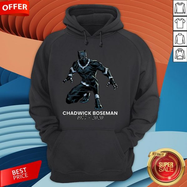 Black Pather Tribute RIP Chadwick Boseman Hoodie