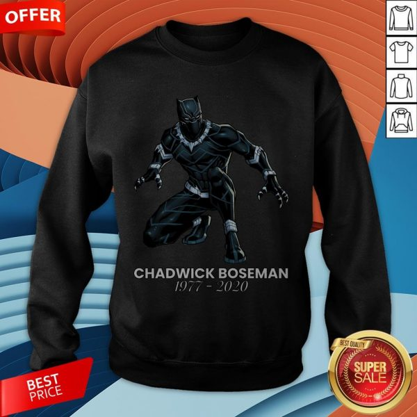 Black Pather Tribute RIP Chadwick Boseman Sweatshirt