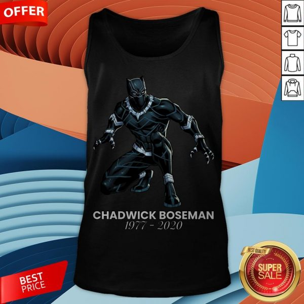 Black Pather Tribute RIP Chadwick Boseman Tank Top