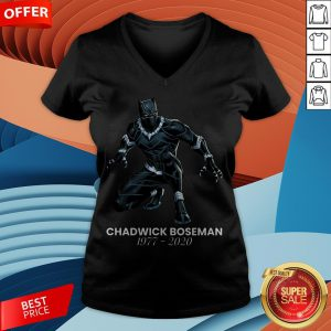 Black Pather Tribute RIP Chadwick Boseman V-neck
