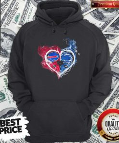 vBuffalo Bills NFL And Penn State Nittany Lions Heart Fire Hoodie