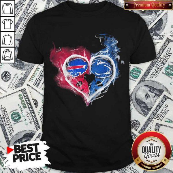 Buffalo Bills NFL And Penn State Nittany Lions Heart Fire Shirt