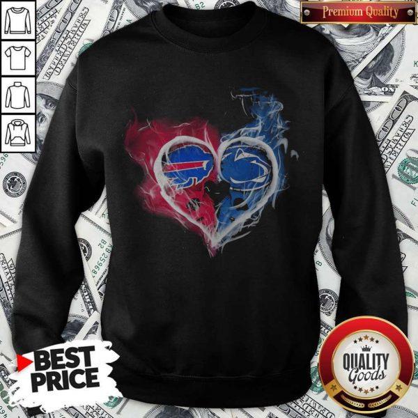Buffalo Bills NFL And Penn State NittBuffalo Bills NFL And Penn State Nittany Lions Heart Fire Sweatshirtany Lions Heart Fire Sweatshirt