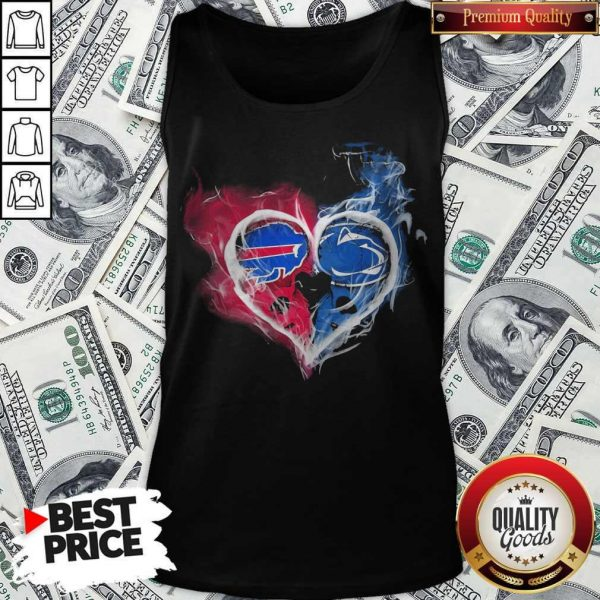 Buffalo Bills NFL And Penn State Nittany Lions Heart Fire Tank Top
