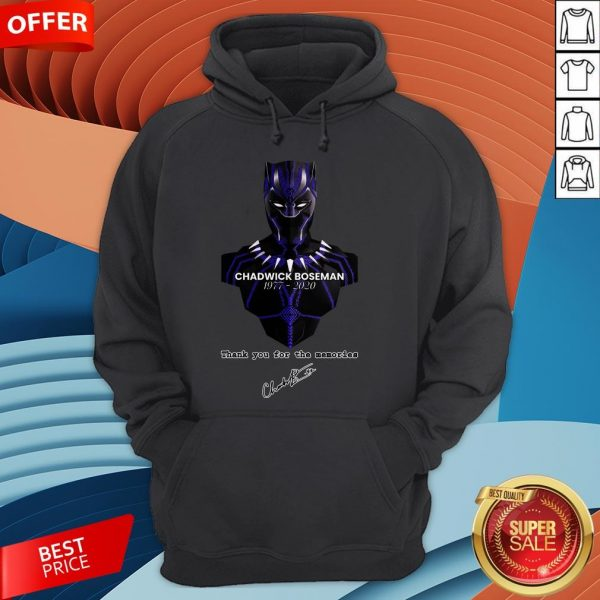 Chadwick Boseman Thank You For The Memories Signature Hoodie