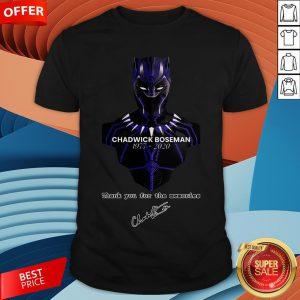 Chadwick Boseman Thank You For The Memories Signature Shirt