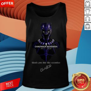 Chadwick Boseman Thank You For The Memories Signature Tank Top