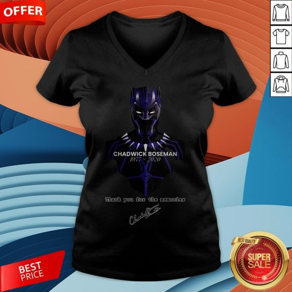 Chadwick Boseman Thank You For The Memories Signature V-neck