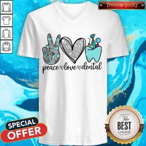 Diamond Peace Love Dental V-neck