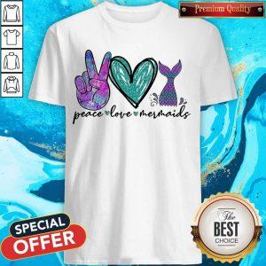 Diamond Peace Love Mermaids Shirt