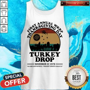 First Annual Wkrp Thanksgiving Day Turkey Drop November 22 1978 Tank Top