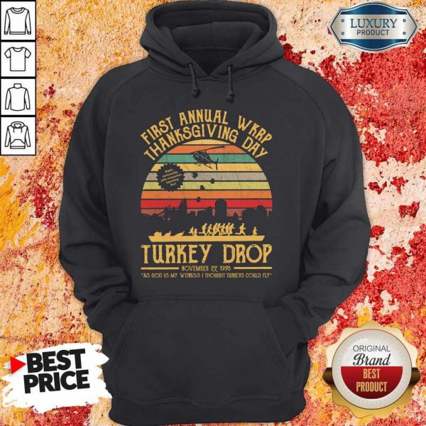 First Annual WKRP Thanksgiving Day Turkey Drop November 22 1978 Vintage Hoodie