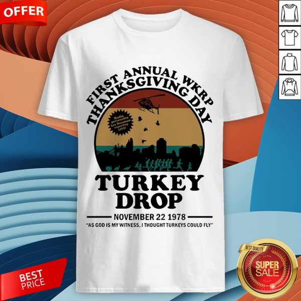 First Annual Wkrp Thanksgiving Day Turkey Drop November 22 1978 Vintage Shirt