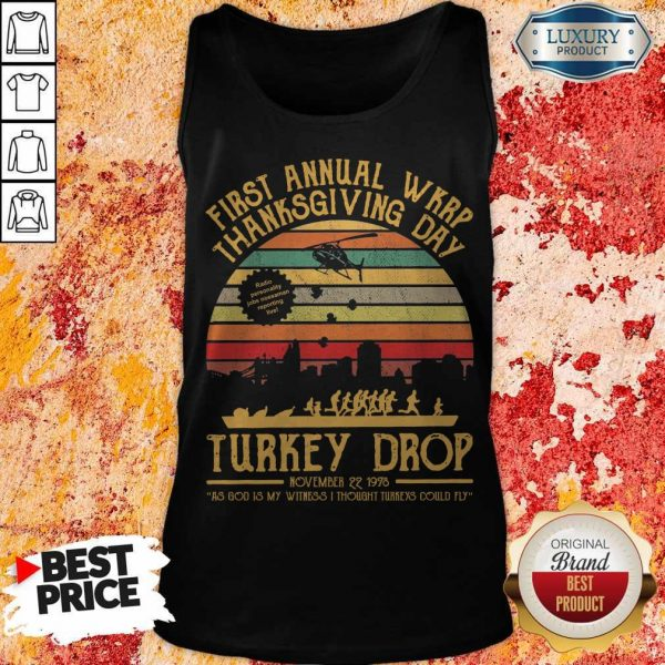 First Annual WKRP Thanksgiving Day Turkey Drop November 22 1978 Vintage Tank Top