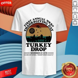 First Annual Wkrp Thanksgiving Day Turkey Drop November 22 1978 Vintage V-neck