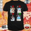 Funny Border Collie Dogs Right Way To Wear Mask Shirt