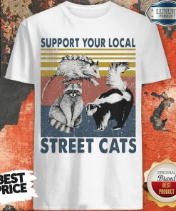 Funny Racoon Support Your Local Street Cats Shirt