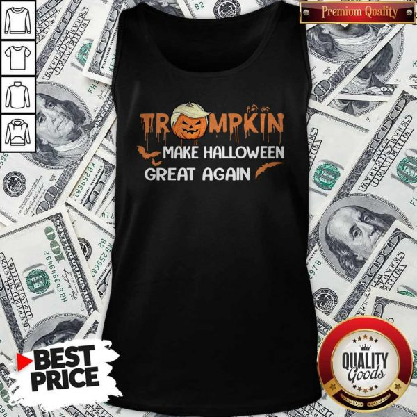 Funny Trumpkin Make Halloween Great Again Tank Top