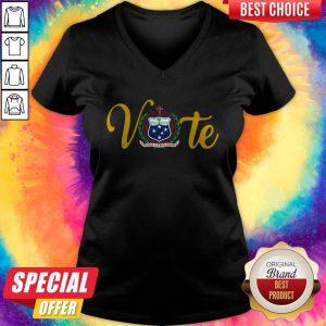 Funny Vote Western Samoa National Pride Emblem V-neck