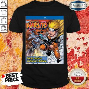 Good Funny Shonen Jump Naruto Triple Feature Collector's Edition Shirt
