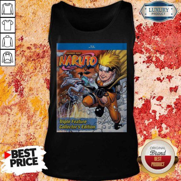 Good Funny Shonen Jump Naruto Triple Feature Collector's Edition Tank Top