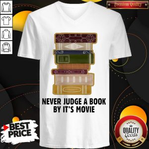Good Never judge a book by it's Movie V-neck