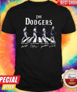 Good The Dodgers Abbey Road Signatures Shirt