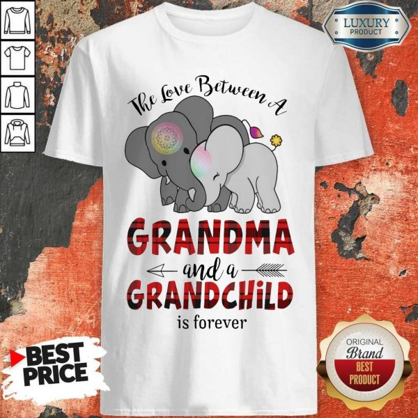 Good The Love Between A Grandma And A Grandchild Is Forever Shirts