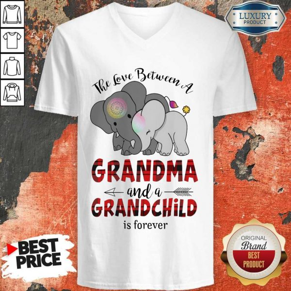 Good The Love Between A Grandma And A Grandchild Is Forever V-neck