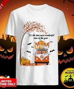 Halloween Corgi It's The Time Most Wonderful Time Of The Year Shirt