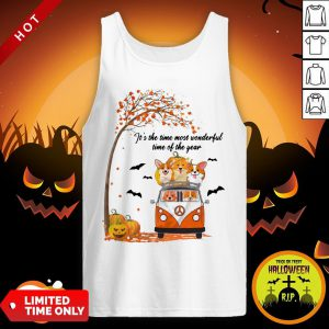 Halloween Corgi It's The Time Most Wonderful Time Of The Year Tank Top