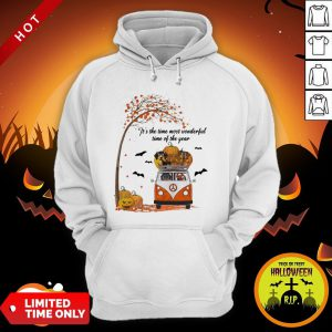 Halloween Dachshund Chibi It's The Time Most Wonderful Time Of The Year Hoodie