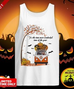 Halloween Dachshund Chibi It's The Time Most Wonderful Time Of The Year Tank Top