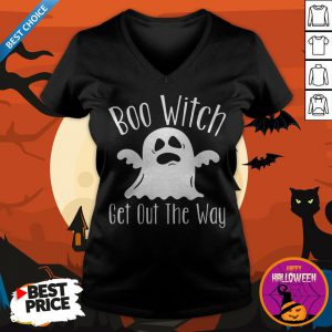 Halloween For Women Boo Witch Get Out The Way V-neck