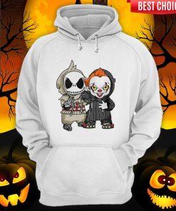 Jack Skellington And Pennywise Friend Happy Halloween Hoodie