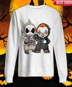 Jack Skellington And Pennywise Friend Happy Halloween Sweatshirt