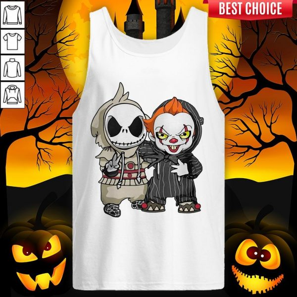 Jack Skellington And Pennywise Friend Happy Halloween Tank Top