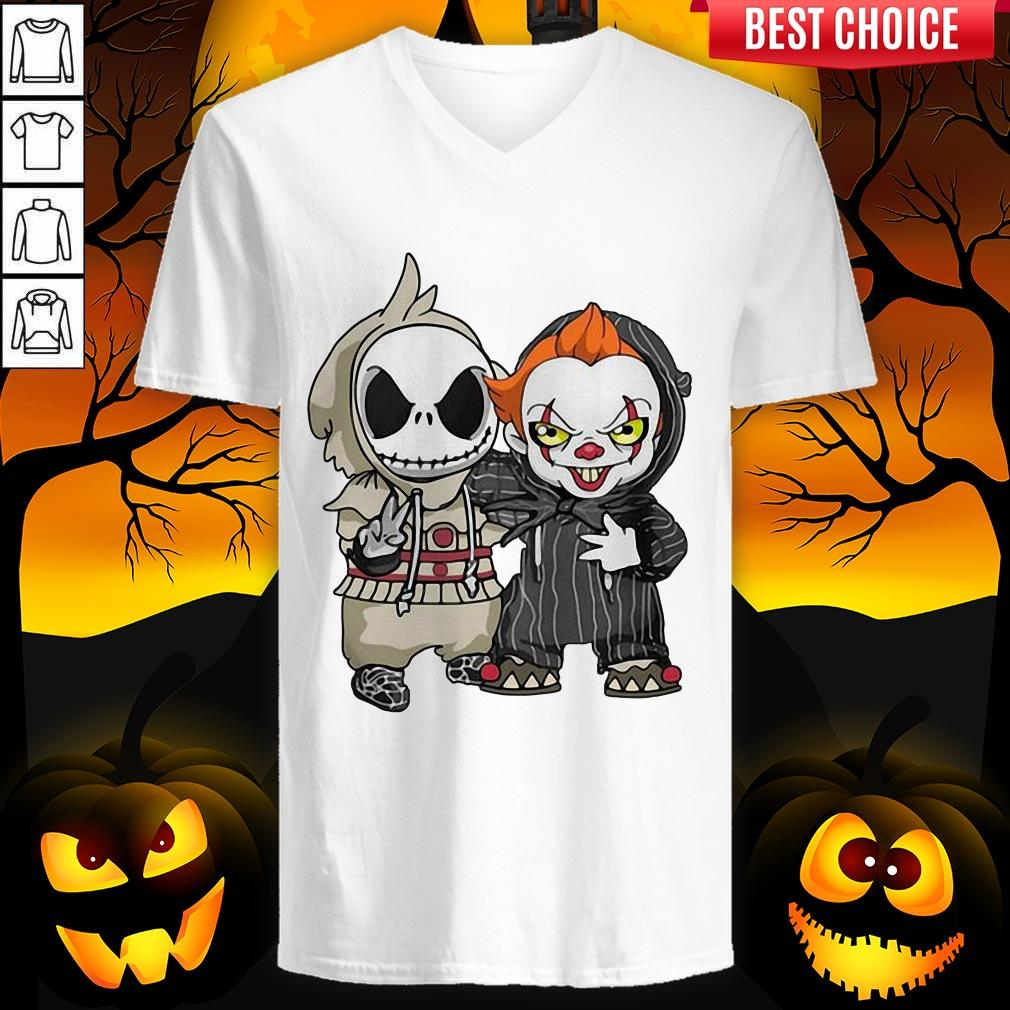Jack Skellington And Pennywise Friend Happy Halloween Shirt Rulestee Com T Shirts Hoodies Apparel