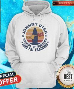 Johnny Utah 1991 School Of Surfing And FBI Training Vintage Retro T-Hoodie