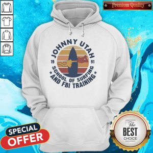 Johnny Utah 1991 School Of Surfing And FBI Training Vintage Retro T-Hoodie