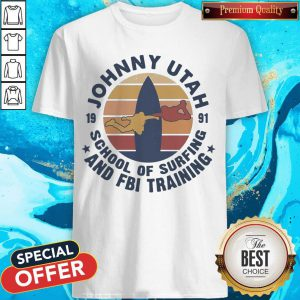 Johnny Utah 1991 School Of Surfing And FBI Training Vintage Retro T-Shirt