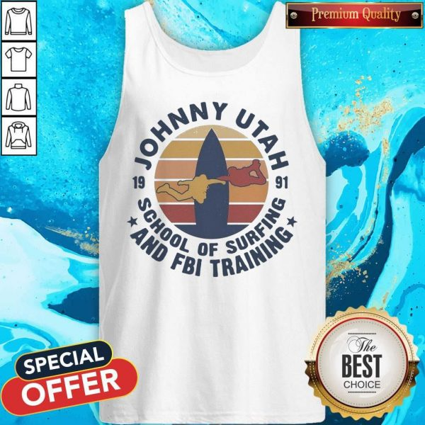 Johnny Utah 1991 School Of Surfing And FBI Training Vintage Retro T-Tank Top