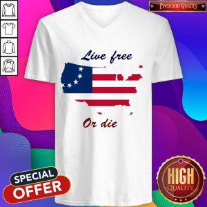 Live Free Or Die American Flag Independence Day V-neckLive Free Or Die American Flag Independence Day V-neck
