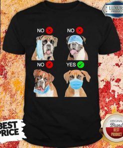 Nice Boxer Dogs Right Way To Wear Mask Shirt