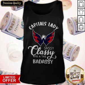 Nice Capitals Lady Sassy Classy And A Tad Badassy Tank Top