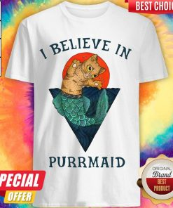 Nice Cat I Believe In Purrmaid Sunset Shirt
