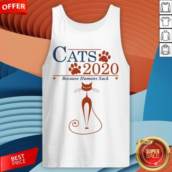 Nice Cats 2020 Because Humans Suck Tank Top