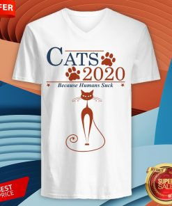 Nice Cats 2020 Because Humans Suck V-neck