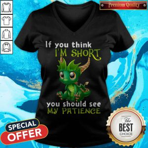 Nice Dragon If You Think I'M Short You Should See My Patience V-neck