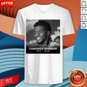 Nice Rip Chadwick Boseman V-neck